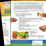 Healthy Food Donatio Policy