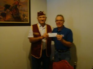 Larry Gunkel accepts $500 from American Ex-POW